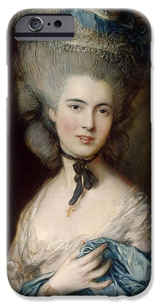 Woman In Blue The Duchess Of Beaufort IPhone Case by Gainsborough