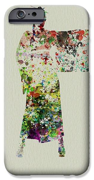 Woman In Kimono IPhone Case by Naxart Studio