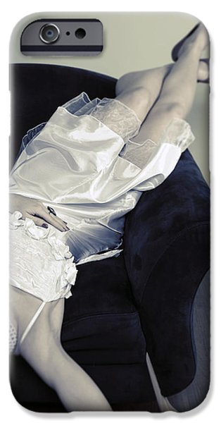 Woman Lying On Chair IPhone Case by Joana Kruse