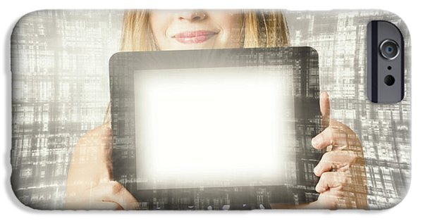 Women Holding Tablet Technology IPhone Case by Jorgo Photography - Wall Art Gallery