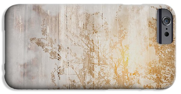Wood Background With Branches Double Exposure Style With Instagr IPhone 6s Case by Brandon Bourdages