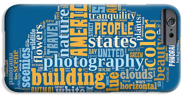 Word Cloud Of Popular Faa Keywords IPhone Case by Edward Fielding