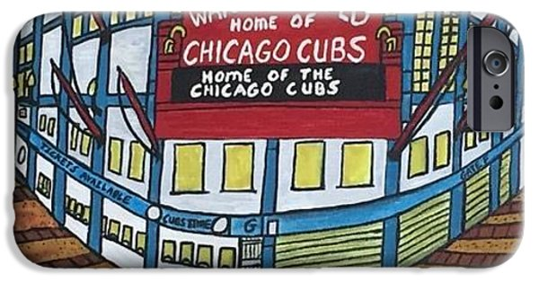 Wrigley Field Home Of Chicago Cubs. IPhone Case by Jonathon Hansen