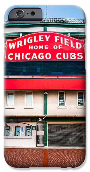 Wrigley Field Sign Photo IPhone Case by Paul Velgos