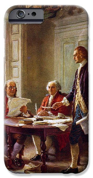 Writing The Declaration Of Independence, 1776, IPhone 6s Case by Leon Gerome Ferris