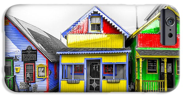 Yacht Street Cape May In Technicolor IPhone Case by Bill Cannon