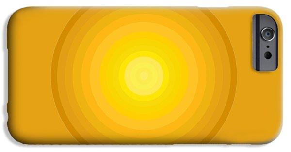 Yellow Circles IPhone Case by Frank Tschakert