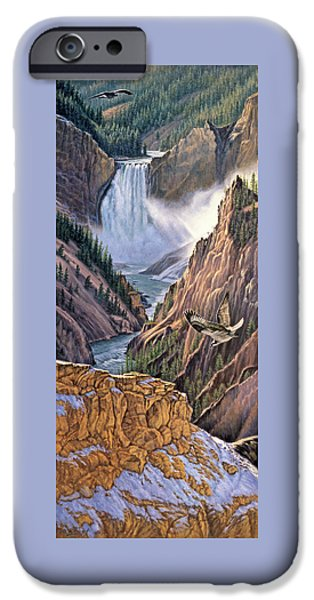 Yellowstone Canyon-osprey IPhone 6s Case by Paul Krapf