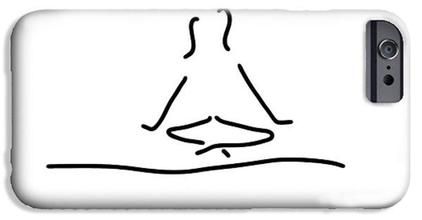 Yoga Joga Meditation IPhone Case by Lineamentum