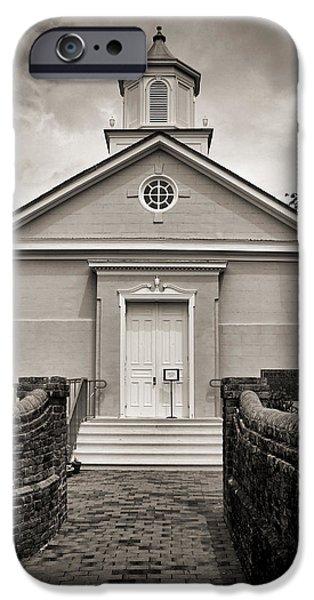 York-hampton Parish Church - Toned Bw IPhone Case by Stephen Stookey