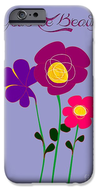 You Are Beautiful - Poppies IPhone Case by Celestial Images