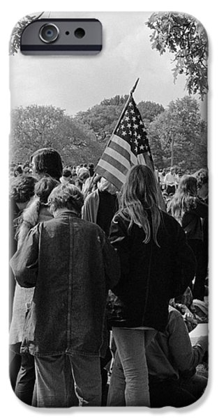 Young People At A Demonstration, C.1970s IPhone Case by H. Armstrong Roberts/ClassicStock