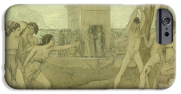 Young Spartan Girls Challenging Boys IPhone Case by Edgar Degas