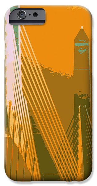 Zakim Bridge Boston V6 IPhone Case by Brandi Fitzgerald