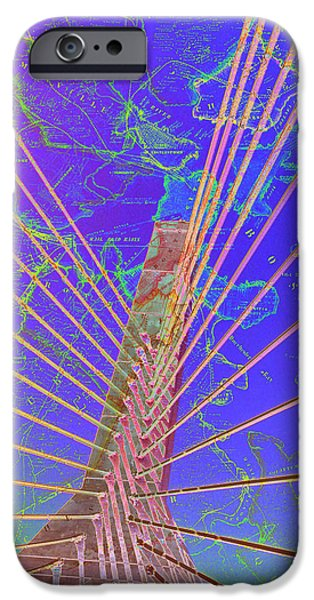 Zakim Bridge Boston V8 IPhone Case by Brandi Fitzgerald