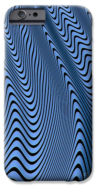 Zebra Blue IPhone Case by John Edwards
