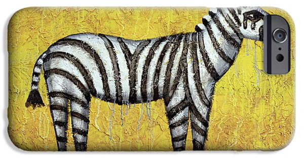 Zebra IPhone Case by Kelly Jade King