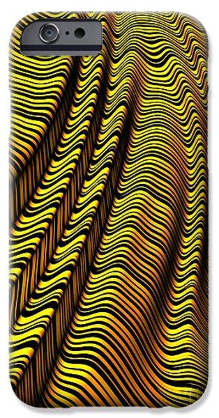 Zebra Stripe Yellow IPhone Case by John Edwards