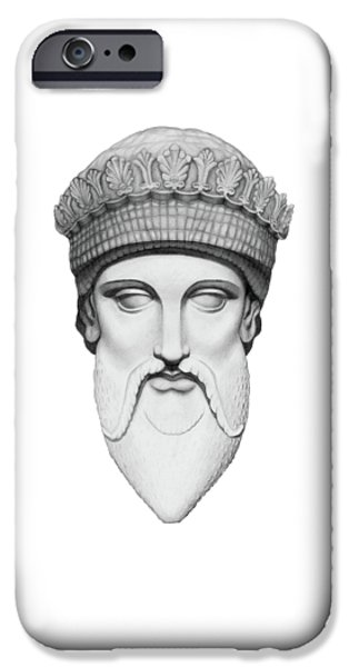 Zeus - King Of The Gods IPhone Case by Stevie the floating artist