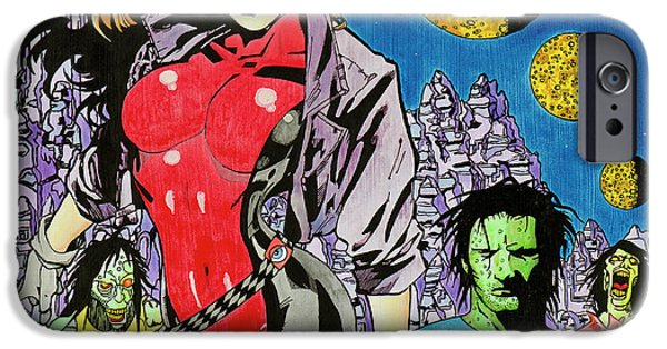 Zombie Encounter At Three Moon Canyon IPhone Case by Alan Morrison