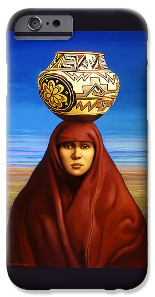 Zuni Woman IPhone Case by Jane Whiting Chrzanoska