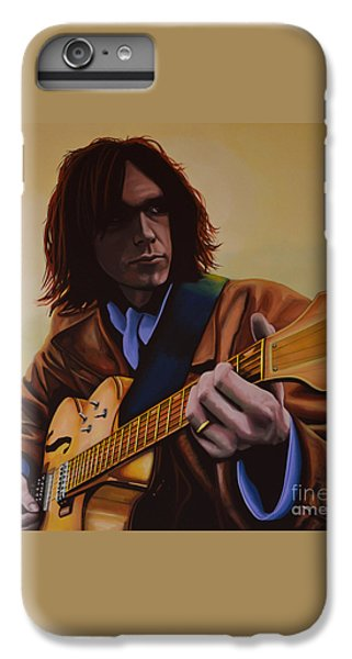 Neil Young Painting IPhone 6s Plus Case by Paul Meijering