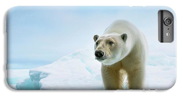 Close Up Of A Standing Polar Bear IPhone 6s Plus Case by Peter J. Raymond