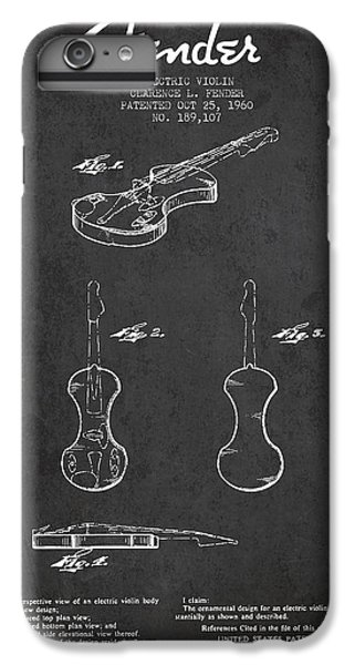 Electric Violin Patent Drawing From 1960 IPhone 6s Plus Case by Aged Pixel