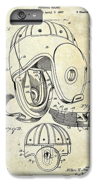 Football Helmet Patent IPhone 6s Plus Case by Jon Neidert