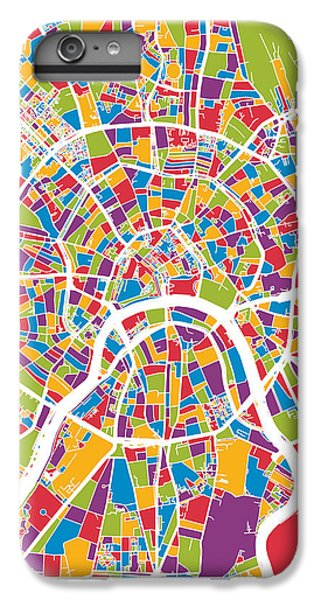 Moscow City Street Map IPhone 6s Plus Case by Michael Tompsett