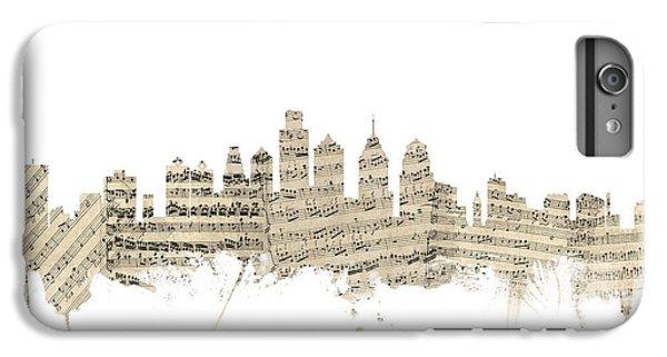 Philadelphia Pennsylvania Skyline Sheet Music Cityscape IPhone 6s Plus Case by Michael Tompsett