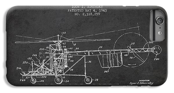 Sikorsky Helicopter Patent Drawing From 1943 IPhone 6s Plus Case by Aged Pixel