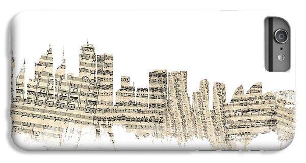 Sydney Australia Skyline Sheet Music Cityscape IPhone 6s Plus Case by Michael Tompsett