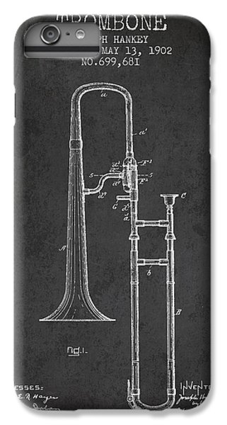 Trombone Patent From 1902 - Dark IPhone 6s Plus Case by Aged Pixel
