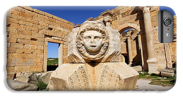 Sculpted Medusa Head At The Forum Of Severus At Leptis Magna In Libya IPhone 6s Plus Case by Robert Preston