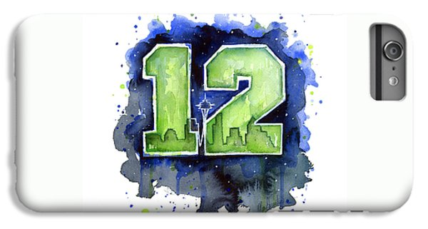 12th Man Seahawks Art Seattle Go Hawks IPhone 6s Plus Case by Olga Shvartsur