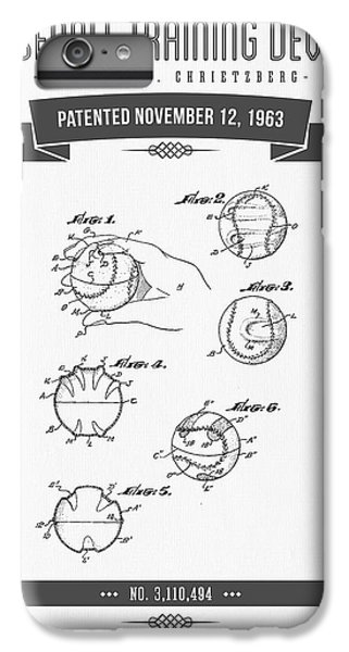 1963 Baseball Training Device Patent Drawing IPhone 6s Plus Case by Aged Pixel