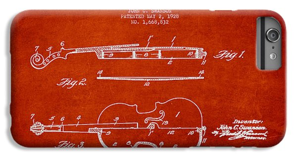 Vintage Violin Patent Drawing From 1928 IPhone 6s Plus Case by Aged Pixel