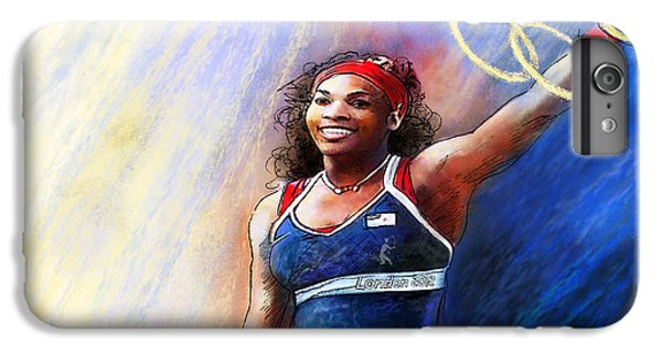 2012 Tennis Olympics Gold Medal Serena Williams IPhone 6s Plus Case by Miki De Goodaboom