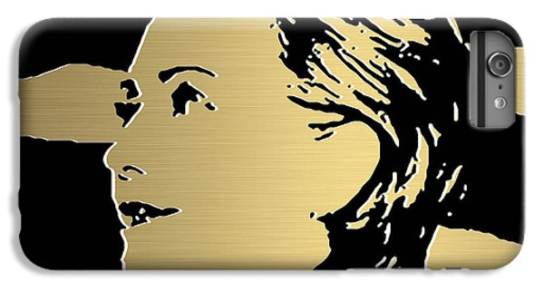 Hillary Clinton Gold Series IPhone 6s Plus Case by Marvin Blaine