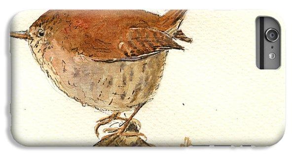 Wren Bird IPhone 6s Plus Case by Juan  Bosco