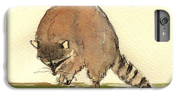 Raccoon IPhone 6s Plus Case by Juan  Bosco