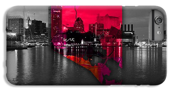 Baltimore Map Watercolor IPhone 6s Plus Case by Marvin Blaine