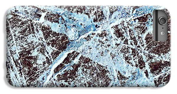 Abstract Scribble Pattern On Stone IPhone 6s Plus Case by Jozef Jankola