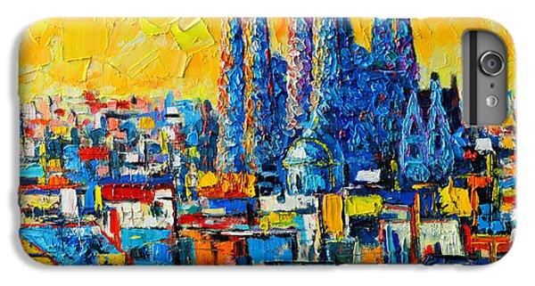 Abstract Sunset Over Sagrada Familia In Barcelona IPhone 6s Plus Case by Ana Maria Edulescu