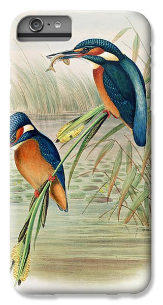 Alcedo Ispida Plate From The Birds Of Great Britain By John Gould IPhone 6s Plus Case by John Gould William Hart