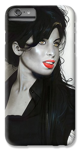 'amy Winehouse' IPhone 6s Plus Case by Christian Chapman Art