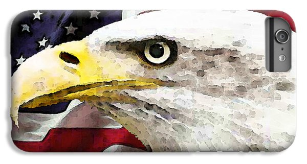 Bald Eagle Art - Old Glory - American Flag IPhone 6s Plus Case by Sharon Cummings