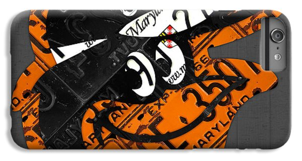 Baltimore Orioles Vintage Baseball Logo License Plate Art IPhone 6s Plus Case by Design Turnpike