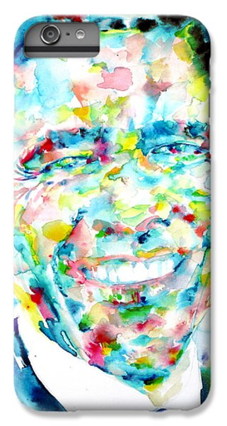 Barack Obama - Watercolor Portrait IPhone 6s Plus Case by Fabrizio Cassetta